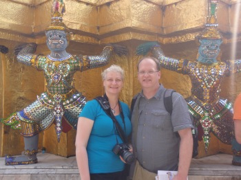 Hot and sweaty at the Grand Palace