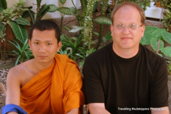Our very informative host at the Monk Chat gave us a lesson on meditation and mindfulness.