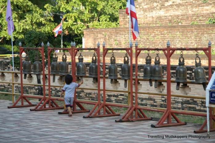The drums, bells and cymbals at the temples are meant to bring blessings to noise-makers.