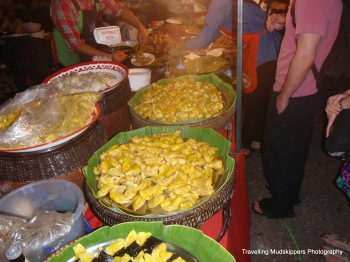 Street Food: All manner of Asian food was available at the New Year's Eve celebration in Chiang Mai, including sushi and dim sum!