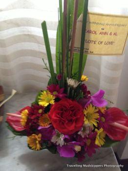 Bali Spirit surprised us with a bouquet of flowers on our anniversary!
